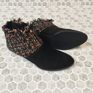 ALL BLACK booties size 35/5